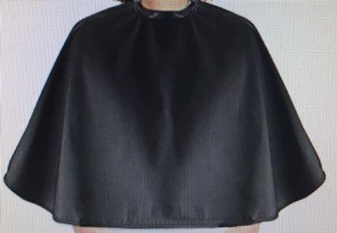 Frisierumhang Lofty kurz schwarz 95x70 cm